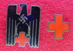 Nazi Red Cross Member's Badge Set...$45 SOLD