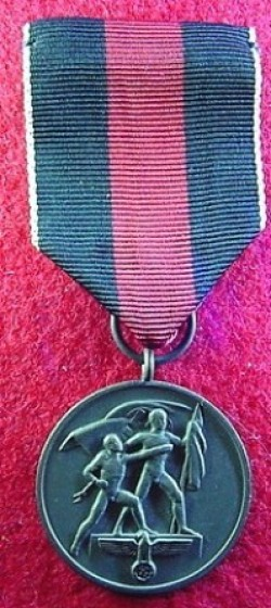Nazi Czech Annexation Medal...$45 SOLD