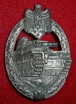 Nazi Panzer Assault Badge in Silver by Hermann Aurich, Dresden...$250 SOLD