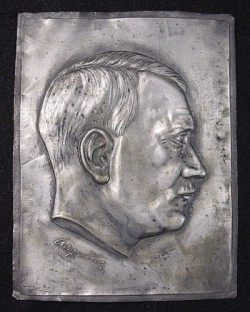 Nazi Adolf Hitler Metal Profile Plaque...$185 SOLD
