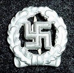 Nazi Swastika-Within-Wreath Badge...$15 SOLD