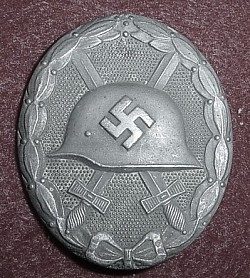 Nazi Silver Wound Badge by Friedrich Orth Marked L/14...$85 SOLD