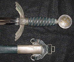 Nazi Luftwaffe Officer's Sword with Hanger by SMF with Waffenamt...$895 SOLD