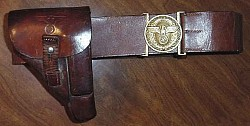 Nazi Political Leader's PPK Holster with Belt and Buckle...$950 SOLD