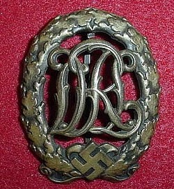 Nazi DRL Sports Badge in Bronze (no catch)...$35 SOLD