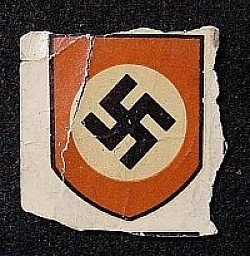 Nazi Swastika Helmet Decal by C.A. Pocher of Nürnberg...$50 SOLD