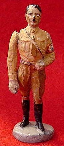 Nazi 1930's Toy Figurine of Adolf Hitler with Saluting Arm...$125 SOLD