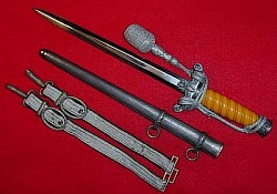 Nazi Army Officer's Dress Dagger by Eickhorn with Hangers and Portapee...$575 SOLD
