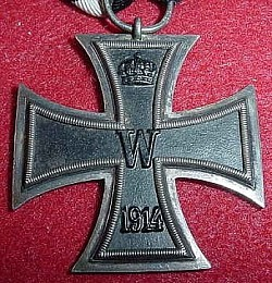 WWI German Iron Cross 2nd Class with Marked Ring...$70 SOLD