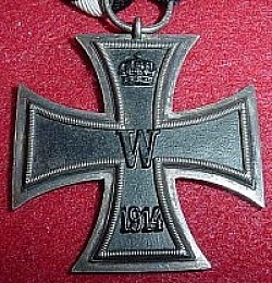"WWI German Iron Cross 2nd Class with Ring Marked ""KO""...$75 SOLD"