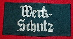 "Nazi State Factory Security Service ""WerkSchutz"" Armband...$70 SOLD"