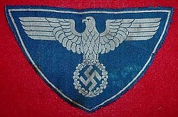 Original Nazi Reichspost Sport Shirt Eagle Patch...$55 SOLD