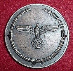 Nazi Motor Transport Battalion Named Plaque Medallion...$110 SOLD