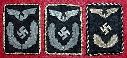 Nazi Reichsbahn Officials' 2nd Pattern Collar Tab Group...$90 SOLD
