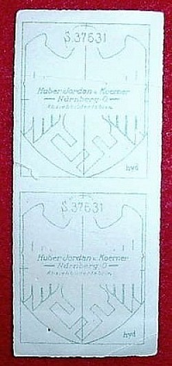 Nazi Set of Two Army Helmet Decals...$95 SOLD