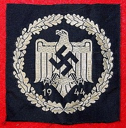 Nazi 1944 DRL Silver Sports Badge Patch...$45 SOLD
