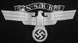Nazi NSKK 2nd Model Crash Helmet Insignia...$145 SOLD