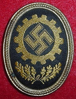 Nazi DAF Visor Hat Badge...$35 SOLD