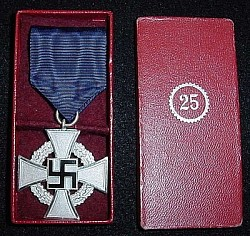 Original Nazi 25-Year Faithful Service Medal in Issue Case...$100 SOLD