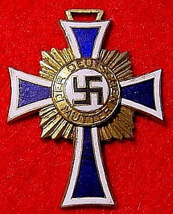 Nazi Mother's Cross in Gold without Ribbon...$40 SOLD