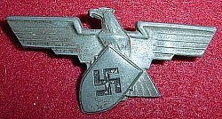 Nazi Werkschutz Factory Protection Police Hat Eagle...$95 SOLD