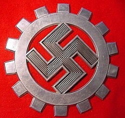Nazi DAF Aluminum Wall Plaque...$175 SOLD
