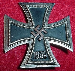 Nazi Iron Cross 1st Class with Early Deumer Copper Plating...$285 SOLD
