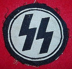 Nazi SS Sports Shirt Patch with SS-RZM Tag...$335 SOLD