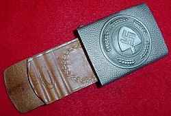 Nazi RAD EM Belt Buckle by Assmann with Leather Tab...$125 SOLD