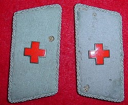 Nazi Red Cross Collar Tabs...$25 pair SOLD