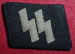 Nazi SS EM Collar Tab with SS-RZM Tag...$525 SOLD