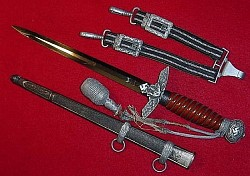 Nazi Luftwaffe Officer's Dress Dagger by Paul Weyersberg with Hangers and Portapee...$750 SOLD