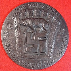 Nazi-Era 1937 700th Anniversary of Berlin Table Medal...$110 SOLD