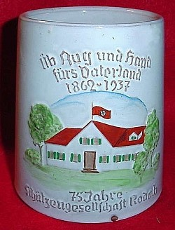 Nazi 75th Anniversary of the Rodach Shooting Society Beer Mug...$135 SOLD