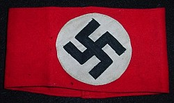 Nazi NSDAP Multi-Piece Wool Armband...$110 SOLD