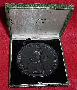 Nazi-era Named 1933 Presentation Table Medal for 25 Years as a Glassblower at the Deutsche Fafelglas AG...$115 SOLD