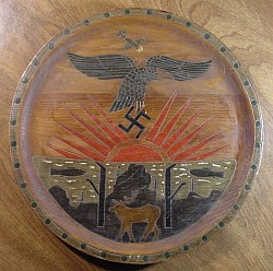 Nazi-era Early Luftwaffe Commemorative Wooden Display Plate...$175 SOLD