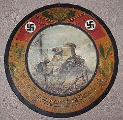 Nazi Marksman's Large Circular Wooden Plaque...$395 SOLD