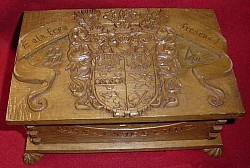 Nazi SS-SA Carved Wooden Box for Ost Friesland...$350 SOLD